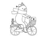 Desenho de Urso portador para colorear