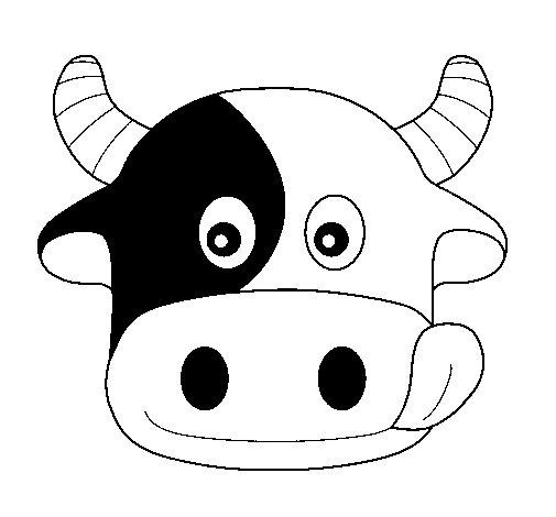 Desenho de Vaca 6 para Colorir