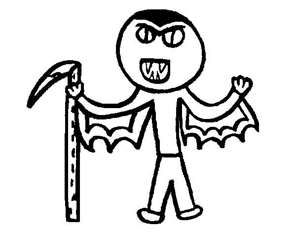Desenho de Vampiro para Colorir