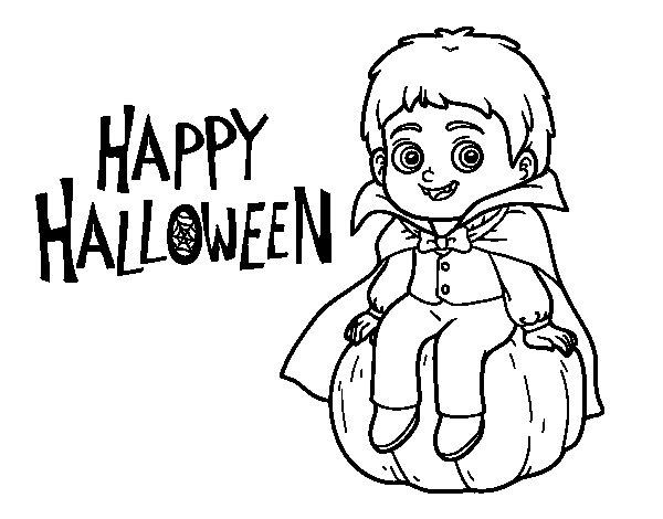 Desenho de Vampiro para o Dia das bruxas para Colorir