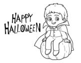 Desenho de Vampiro para o Dia das bruxas para colorear