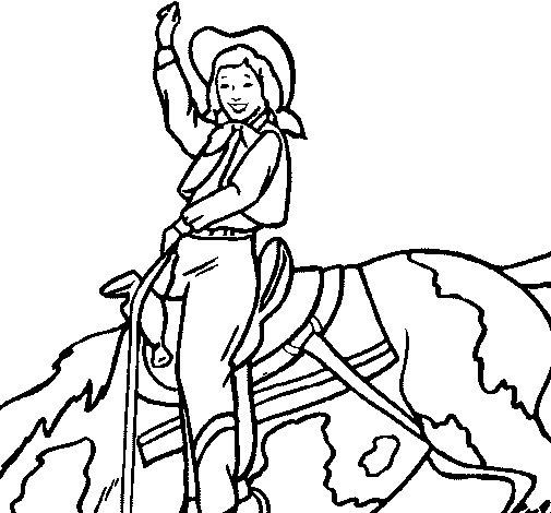Desenho de Vaqueira para Colorir
