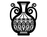 Desenho de Vaso decorado para colorear