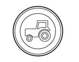 Desenho de Veículos automóveis agrícola entrada proibida para colorear
