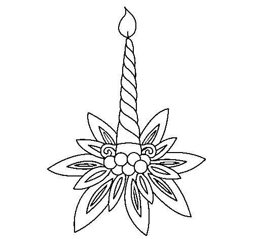 Desenho de Vela II para Colorir