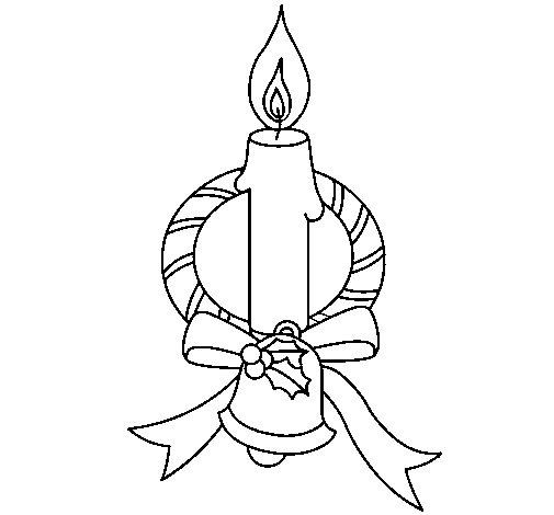 Desenho de Vela III para Colorir