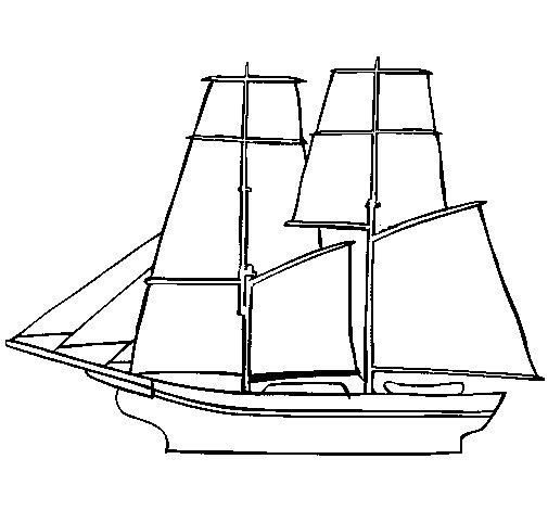 Desenho de Veleiro para Colorir