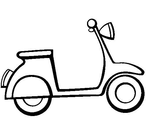 Desenho de Vespa para Colorir