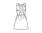 Desenho de Vestido de festa para colorear