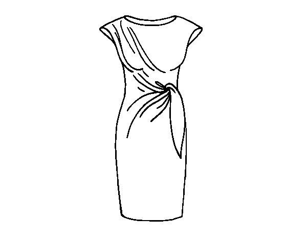Desenho de Vestido elegante para Colorir