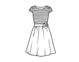Desenho de Vestido ocasional para colorear