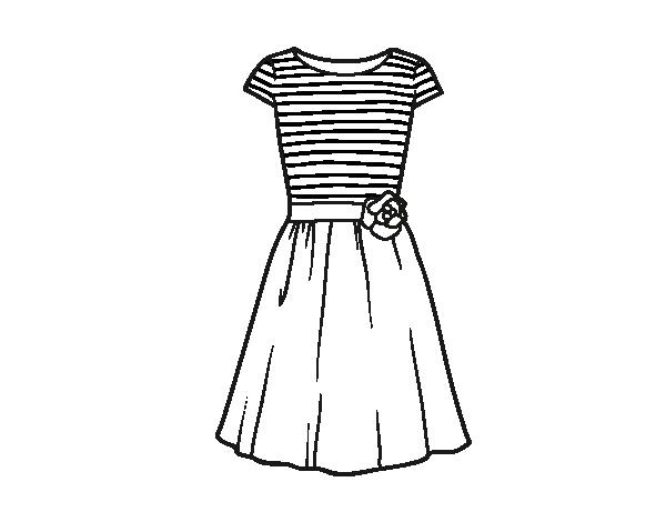 Imagenes de vestidos de noche para colorear – Moda Española moderna 2018