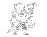 Dibujo de Viking celebrando