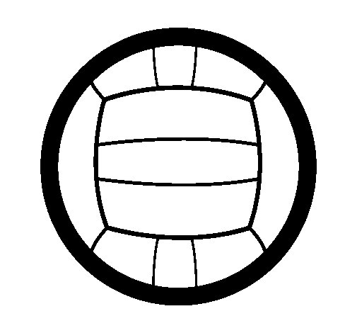 Desenho de Voleibol para Colorir