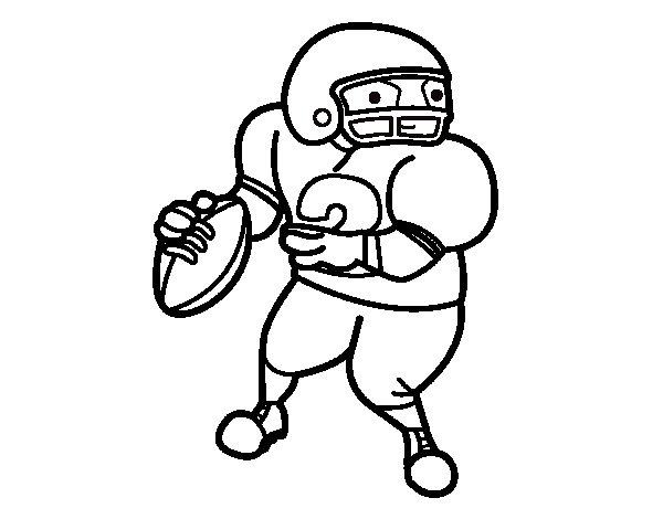 Desenho de Wide receiver para Colorir
