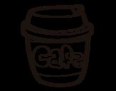 Desenho de Xícara de café para colorear