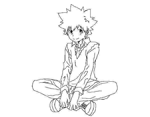 Desenho de Yuni Hatsune para Colorir