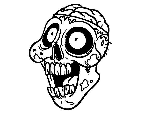 Desenho de Zumbi maldoso para Colorir