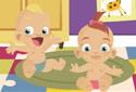Os gêmeos do bebê