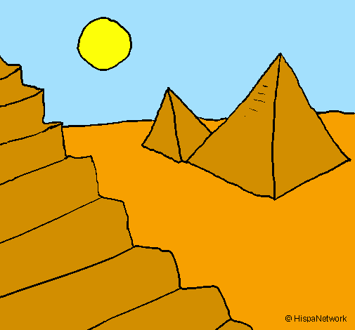 Desenho De Piramides Pintado E Colorido Por Usuario Nao Registrado