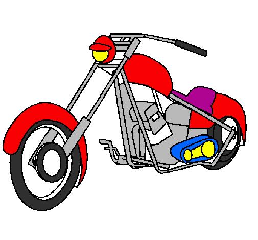 Desenho De Moto Pintado E Colorido Por Usuario Nao Registrado O
