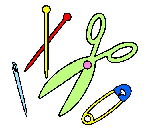 Desenho De Costura Pintado E Colorido Por Usuario Nao Registrado O