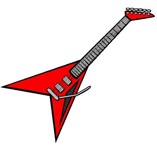 Desenho De Guitarra Eletrica Ii Pintado E Colorido Por Usuario Nao