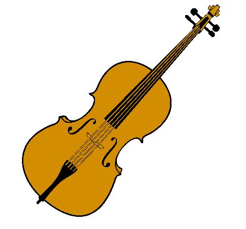 Desenho De Violino Pintado E Colorido Por Usuario Nao Registrado O