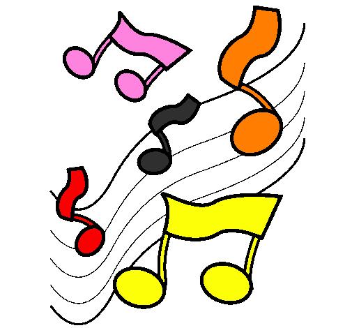 Desenho De Notas Na Escala Musical Pintado E Colorido Por Usuario