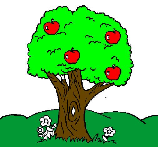 Desenho De Macieira Pintado E Colorido Por Usuario Nao Registrado