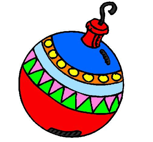 Desenho De Bola De Natal Pintado E Colorido Por Usuario Nao