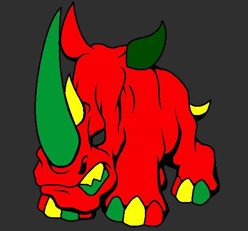 Desenho De Rinoceronte Ii Pintado E Colorido Por Usuario Nao