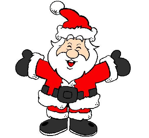 Desenho De Pai Natal Feliz Pintado E Colorido Por Usuario Nao