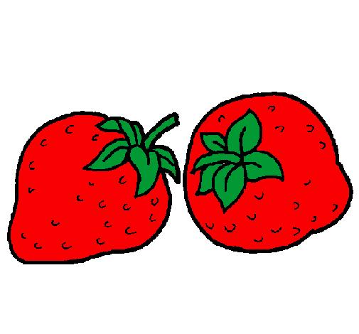 Desenho De Morangos Pintado E Colorido Por Usuario Nao Registrado
