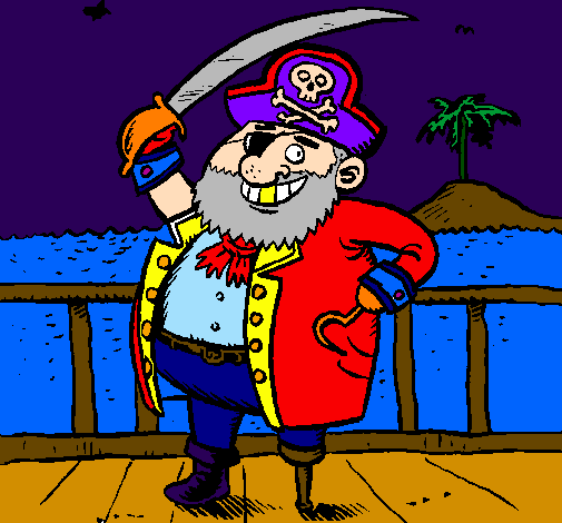 Desenho De Pirata A Bordo Pintado E Colorido Por Usuario Nao