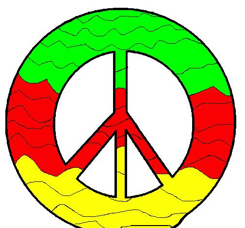 Desenho De Simbolo Da Paz Pintado E Colorido Por Usuario Nao