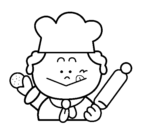 Desenho De Cozinheiro 2 Pintado E Colorido Por Usuario Nao