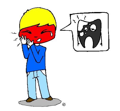 Desenho De Dor De Dente Pintado E Colorido Por Usuario Nao