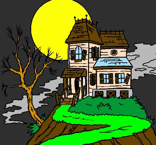 Desenho De Casa Encantada Pintado E Colorido Por Usuario Nao