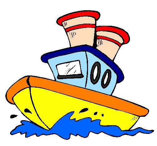 Desenho De Barco No Mar Pintado E Colorido Por Usuario Nao