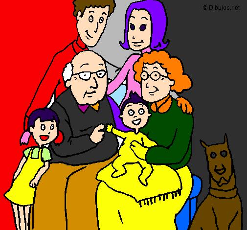 Desenho De Familia Pintado E Colorido Por Usuario Nao Registrado O