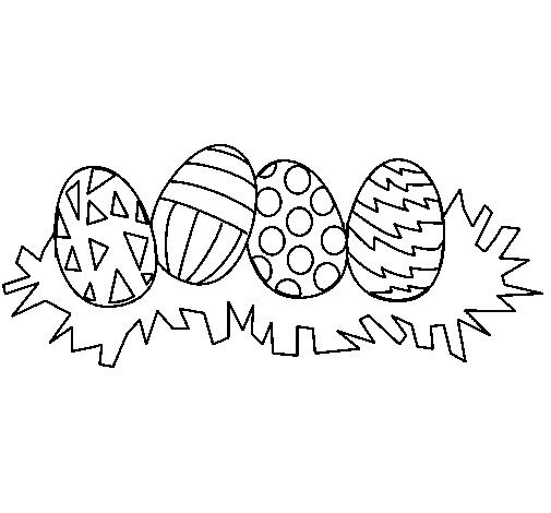 Desenho De Ovos De Pascoa Iii Pintado E Colorido Por Usuario Nao