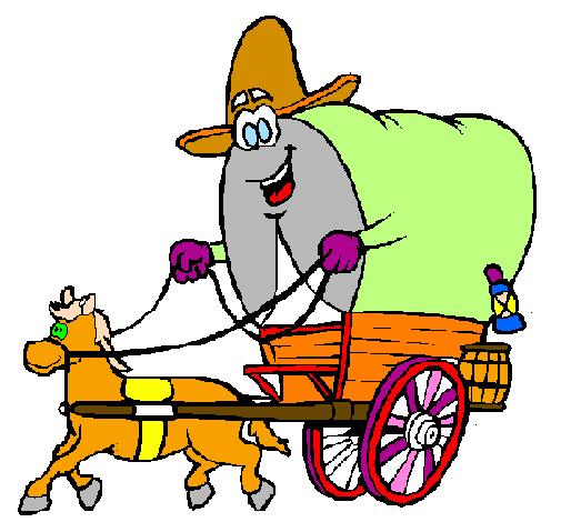 Desenho De Carroca Vaqueiro Pintado E Colorido Por Usuario Nao