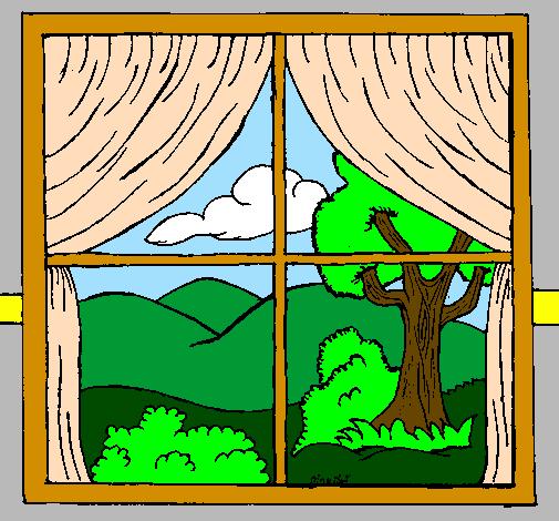 Desenho De Janela Pintado E Colorido Por Usuario Nao Registrado O