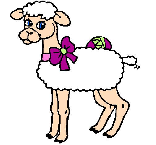 Desenho De Ovelha Pintado E Colorido Por Usuario Nao Registrado O