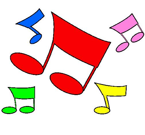 Desenho De Notas Musicais Pintado E Colorido Por Usuario Nao