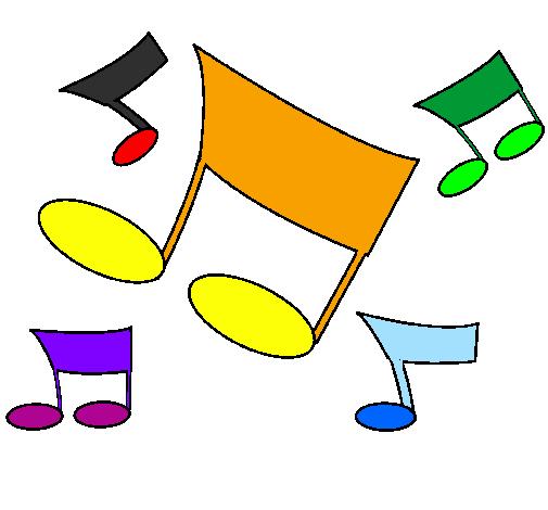 Desenhos De Musica Notas Musicais Pintados E Coloridos Mas