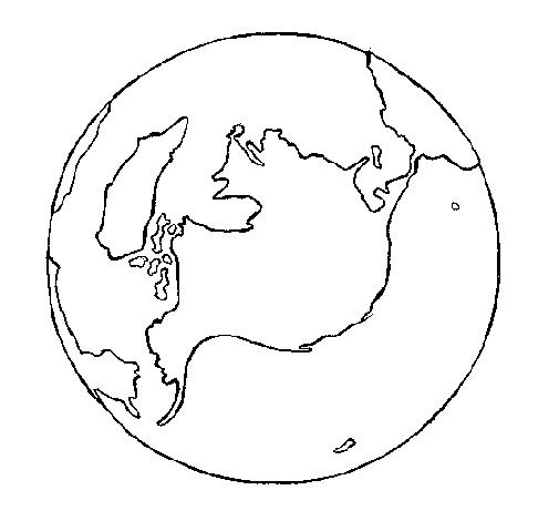 Desenho De Planeta Terra Pintado E Colorido Por Usuario Nao