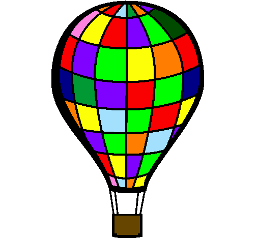 Desenho De Balao De Ar Quente Pintado E Colorido Por Usuario Nao