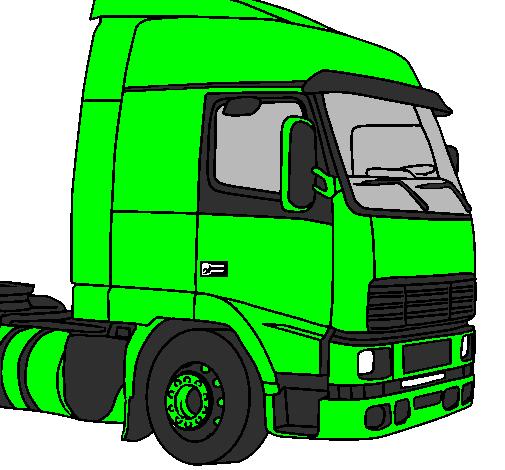 Desenho De Camiao Pintado E Colorido Por Usuario Nao Registrado O